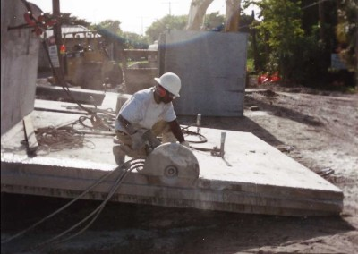 Hand Sawing a Slab